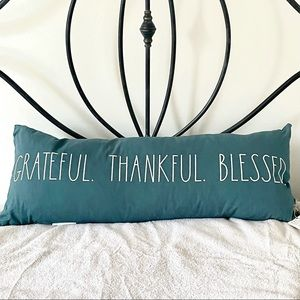 ⭐️FIRM PRICE⭐️Rae Dunn XLarge GRATEFUL THANKFUL BLESSED Pillow